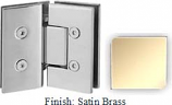 Satin Brass VAN Series with Square Edges 135 Degree Glass-to-Glass Hinge - VA782E_SBR