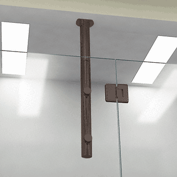 "CRL Oil Rubbed Bronze 33"" Two Point Vertical Post System CRL VPK330RB"
