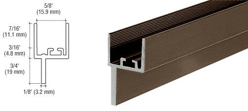 "CRL Bronze Anodized Aluminum 5/8"" Insulating Glass Window Adaptor 3/4"" Leg CRL WA150BRZ"