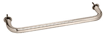 Polished Nickel Wall Mounted 12 inch Towel Bar - CRL WTB12PN