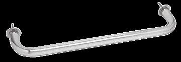 """CRL Satin Chrome 12"""" Wall Mounted Towel Bar CRL WTB12SC"""