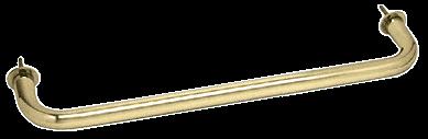 "CRL Polished Brass 18"" Wall Mounted Towel Bar CRL WTB18BR"