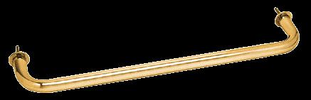 "CRL Gold Plated 24"" Wall Mounted Towel Bar CRL WTB24GP"