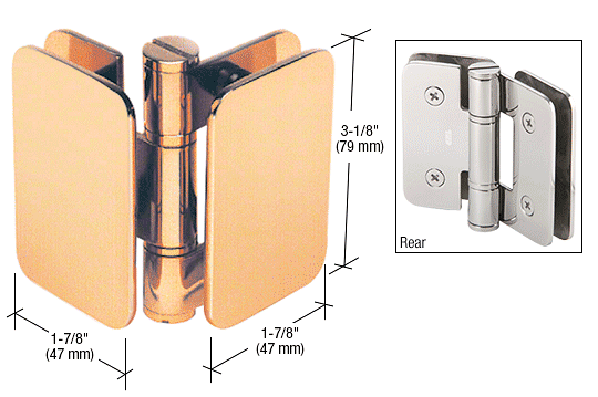CRL Gold Plated Zurich 04 Series Glass-to-Glass 90 Degree Inswing Hinge CRL ZUR04GP