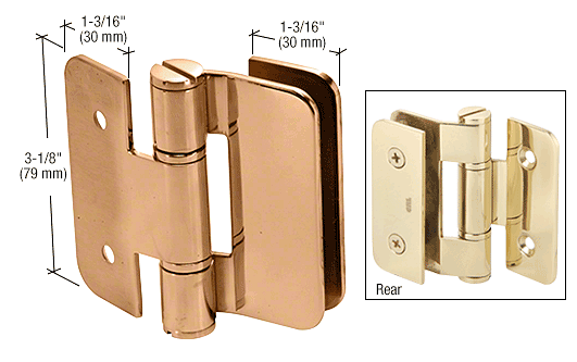 CRL Gold Plated Zurich 05 Series Wall Mount Outswing Hinge CRL ZUR05GP