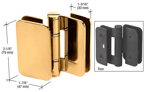 CRL Gold Plated Zurich 06 Series Glass-to-Glass 90 Degree Outswing Hinge CRL ZUR06GP