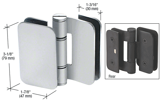 CRL Brushed Stainless Zurich 06 Series Glass-to-Glass 90 Degree Outswing Hinge CRL ZUR06SS