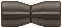 Oil Rubbed Bronze Back-to-Back Bow-Tie Style Knob - CRL SDK109ORB