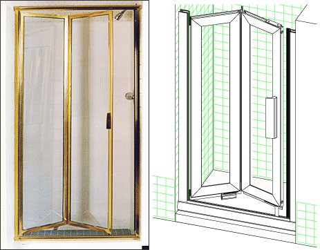 Inward Double Hinge Bifold Stall 20 inch to 20-3/4 inch x 71 inch