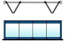 CRL Custom Color 4-Panel Bipart Overhead Track Full Bi-Fold Door Configuration - 0TB4BPPT
