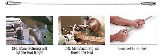 CRL Custom Length 16mm Diameter Tension Rod - 270116CR
