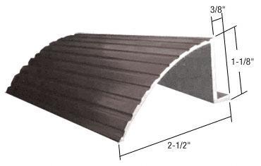 """CRL Bronze 74"""" Retractable Screen Door Round Sill adaptor - 74RSBRZ"""