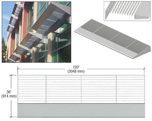 CRL Metallic Silver 10' 7700 Series Aluminum Sunshade Systems - 77103