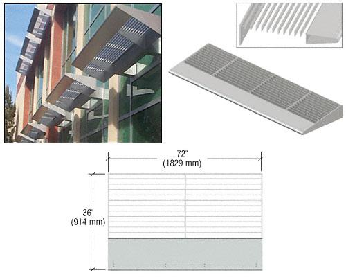 CRL Metallic Silver 6' 7700 Series Aluminum Sunshade Systems - 7763