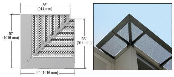 CRL Metallic Silver 7750 Corner Panel - AW7750CNR