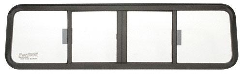 CRL Duo-Vent Four Panel Big Rig Slider with Clear Glass for 1967-1987 Autocar/White Diamond Conventional Cabs - BRW1842