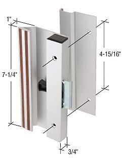 "CRL Aluminum Low Profile Clamp-Style Surface Mount Handle 4-15/16"" Screw Holes - C1249"