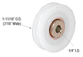 "CRL 1-11/16"" Nylon B.B. Replacement Roller 7/16"" Wide - D1716"