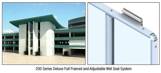 CRL Custom Color Kynar® Painted Deluxe Series Wall Panel System - DWS200CKN
