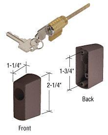 "CRL Bronze Key Cylinder Housing Kit With 1-3/4"" Screw Holes - E2194"
