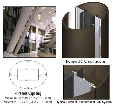 CRL Custom Oil Rubbed Bronze Standard Series Elliptical Column Covers Four Panels Opposing - ECE40CORB