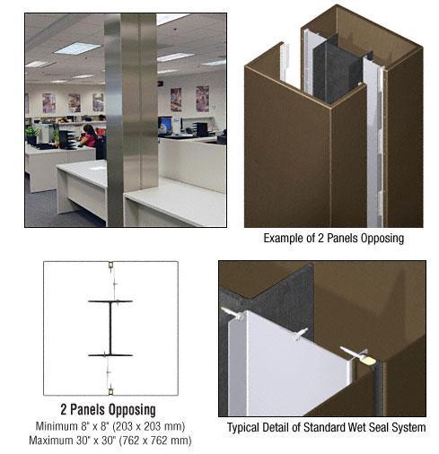 CRL Custom Brushed Bronze Standard Series Square Column Covers Two Panels Opposing - ECS20CBBRZ