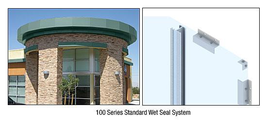 CRL Custom Color Kynar® Painted Standard Series Wall Panel System - EWS100CKN