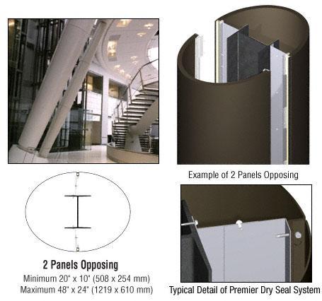 CRL Custom Oil Rubbed Bronze Premier Series Elliptical Column Covers Two Panels Opposing - PCE20CORB