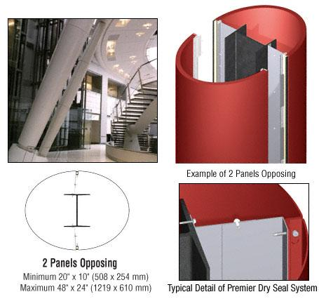 CRL Custom Color Newlar Painted Premier Series Elliptical Column Covers Two Panels Opposing - PCE20CNL