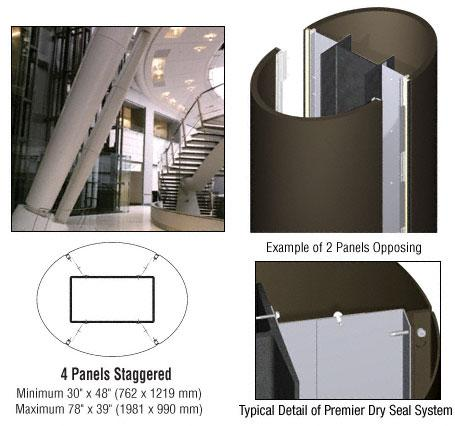 CRL Custom Oil Rubbed Bronze Premier Series Elliptical Column Covers Four Panels Staggered - PCE45O0RB
