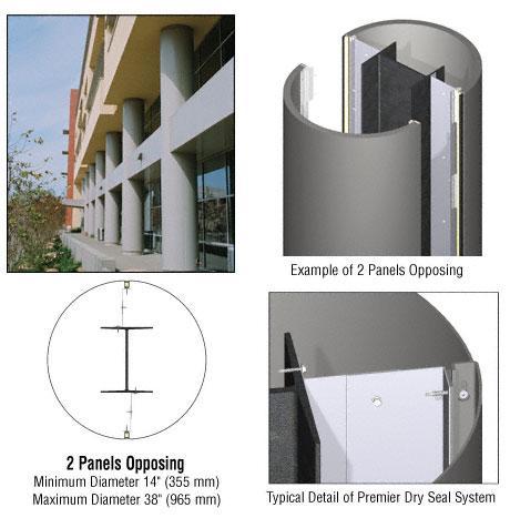 CRL Custom Champagne Metallic Premier Series Round Column Covers Two Panels Opposing - PCR20CCM