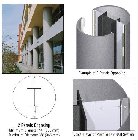 CRL Custom Mica Platinum Premier Series Round Column Covers Two Panels Opposing - PCR20CMP