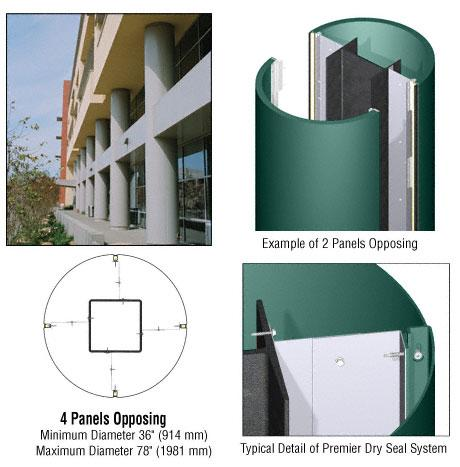 CRL Custom Color Kynar® Painted Premier Series Round Column Covers Four Panels Opposing - PCR40CKN