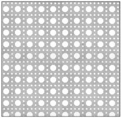 CRL Custom Perforated Infill Panel - Octagon Cane Holes - PN180CPC
