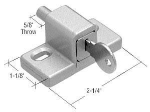 CRL Aluminum Push-In Keyed Lock - S4210